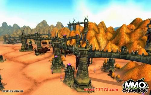 《魔兽世界》大灾变资料片中千针石林景象