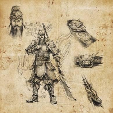 《幻想三国》全新神将手绘图 关羽赵云现身