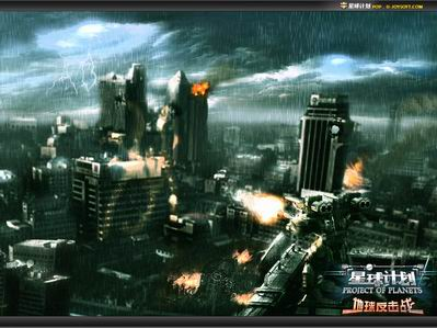 科幻战争废墟素材