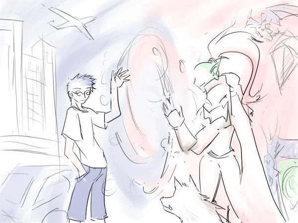 漫画壁纸-[涂鸦]再见